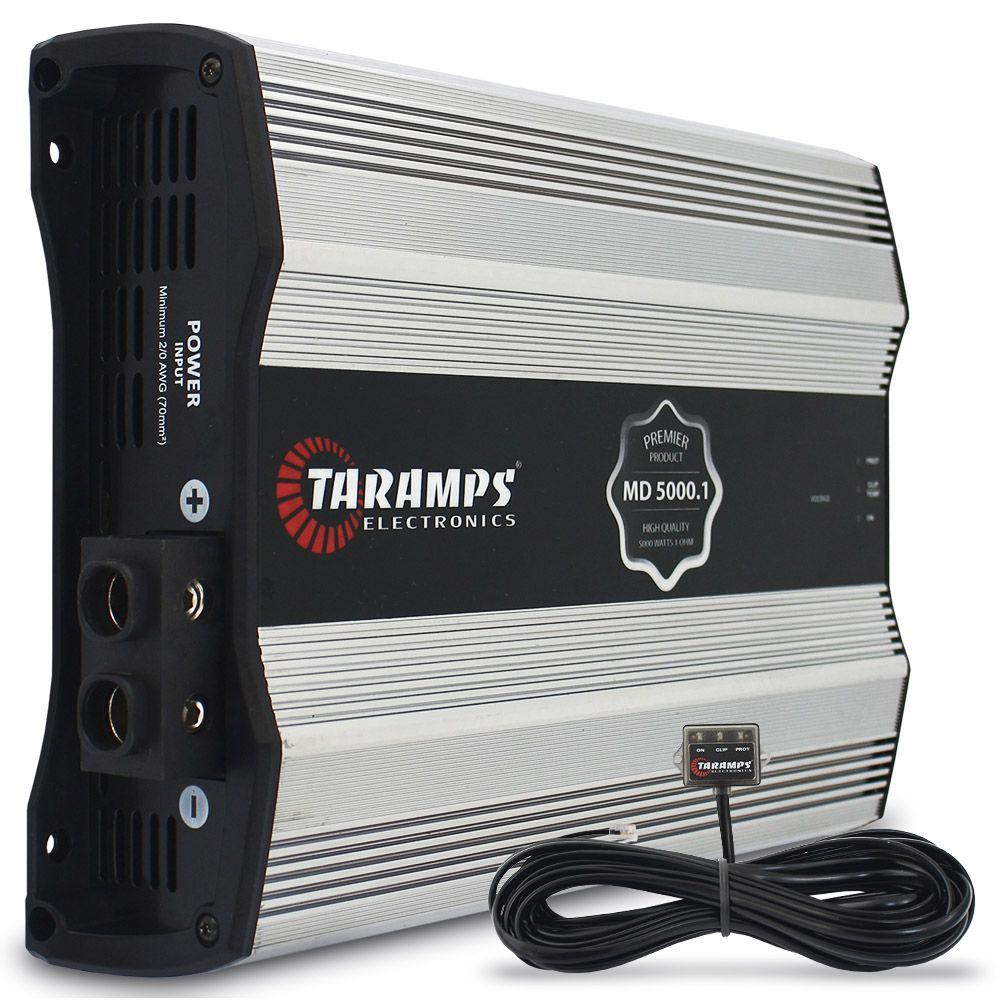 Modulo Amplificador Taramps 5000 Rms MD-5000.1 PREMIER Mono Digital 1 Canal 1 Ohm Classe D Bass Boost Full Range