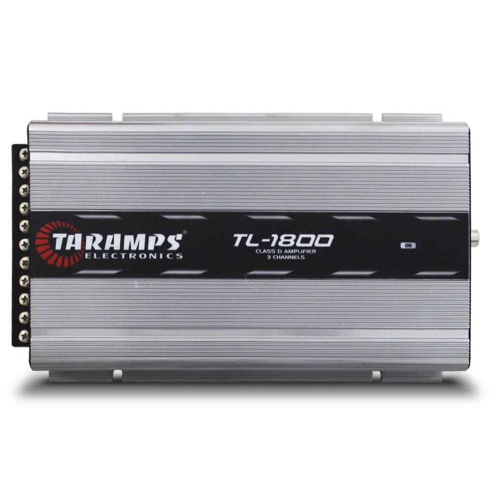 Modulo Amplificador Taramps 530 Rms TL-1800 Mono Stereo Digital 3 Canais 2 Ohms Classe D Fio Bass Boost