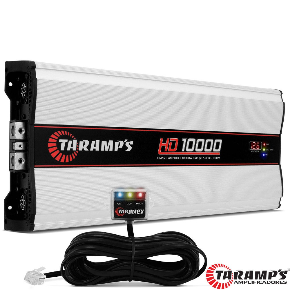 Modulo Amplificador Taramps 1 canal Hd-10000  wrms 1 Ohms Digital