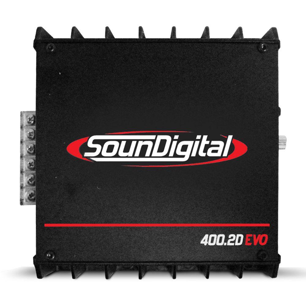 Módulo Soundigital 400 Rms SD-400.2D Evo 2 Stereo Digital