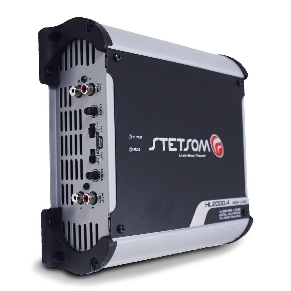 Modulo Stetsom 2000 Rms HL-2000.4 Stereo Digital 4 Canais