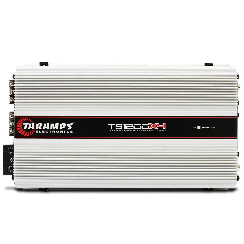 Modulo Taramps 1200 Rms TS-1200X4 Stereo Digital 4 Canais