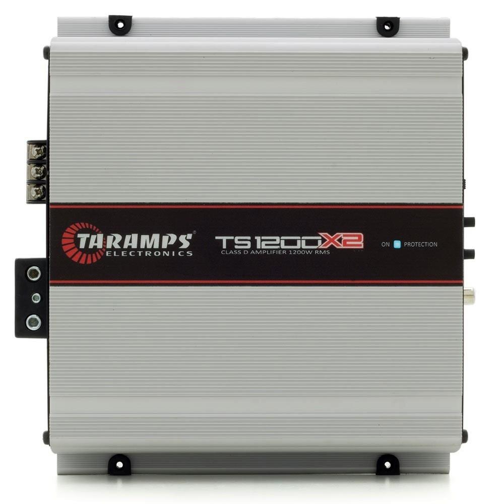 Modulo Taramps 1200 Rms TS-1200X2 Stereo Digital 2 Canais