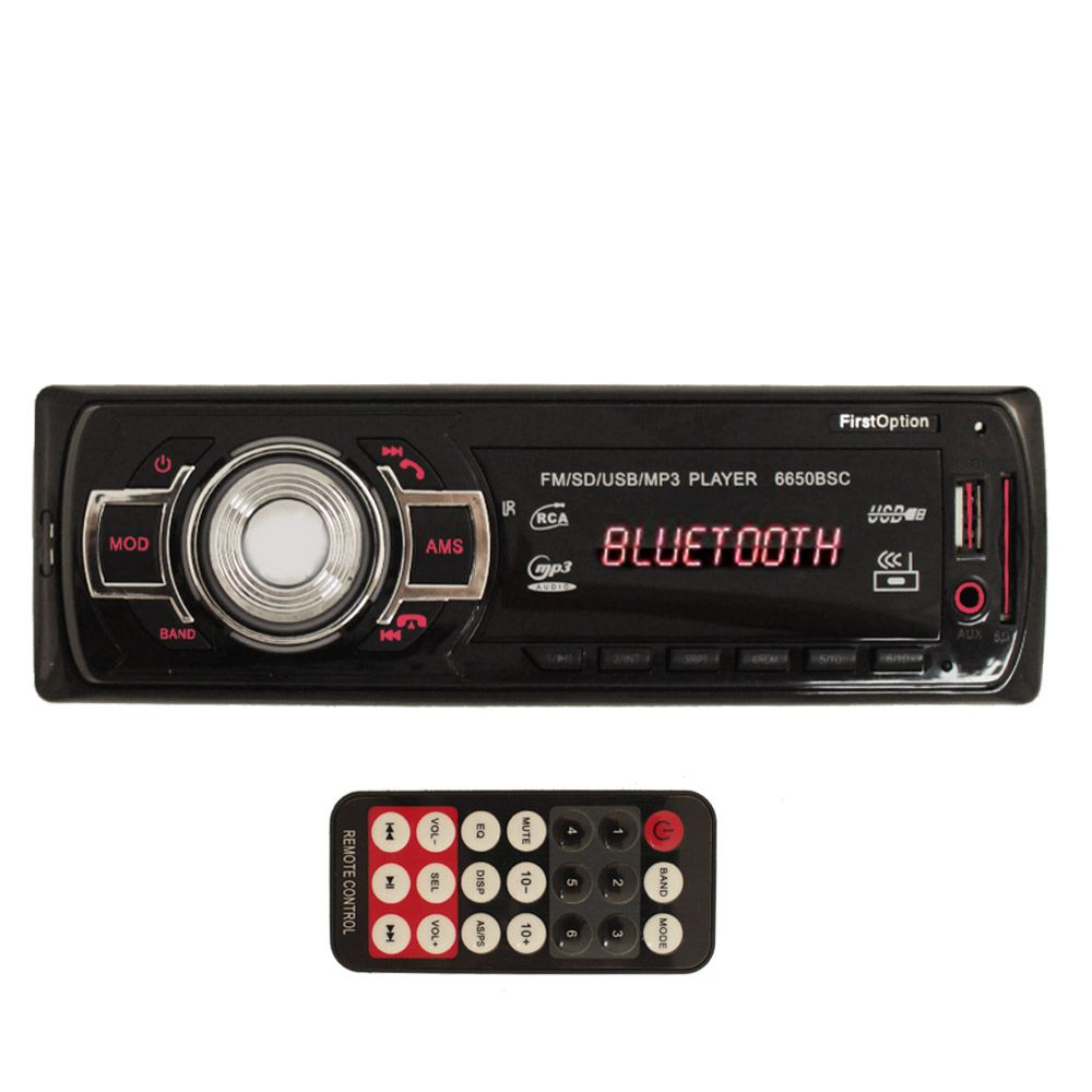 Mp3 player automotivo First Option Bluetooth Usb Sd Fm