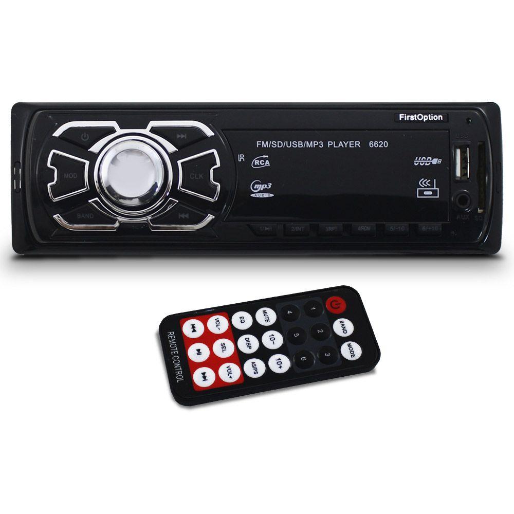 Mp3 player Automotivo First Option Usb Sd Fm Controle