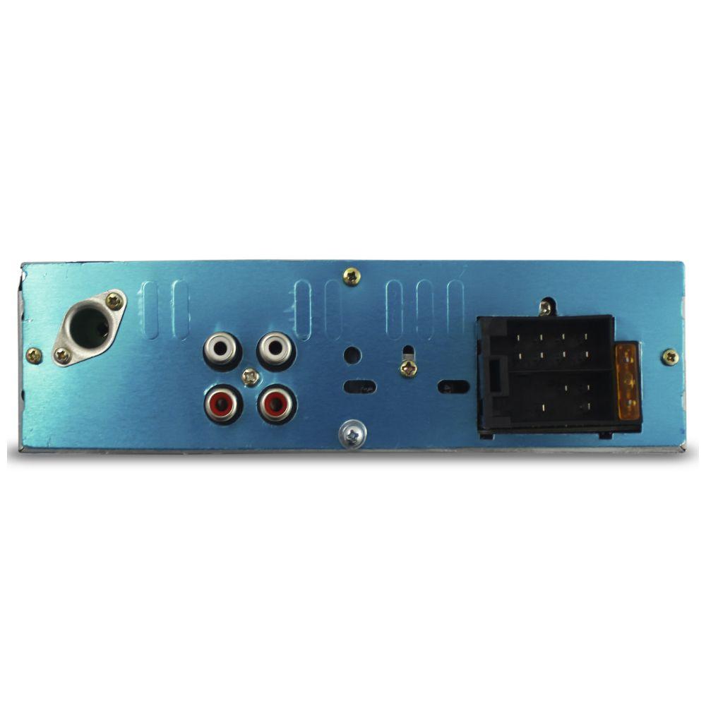 Mp3 Player Automotivo H-Tech HMP-6010 Bluetooth Usb Sd Aux Rádio Fm Rca Iluminação 7 Cores