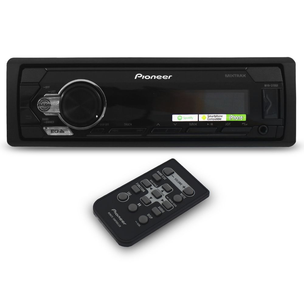 Mp3 Player Automotivo Pioneer MVH-S118UI Android IOS Usb