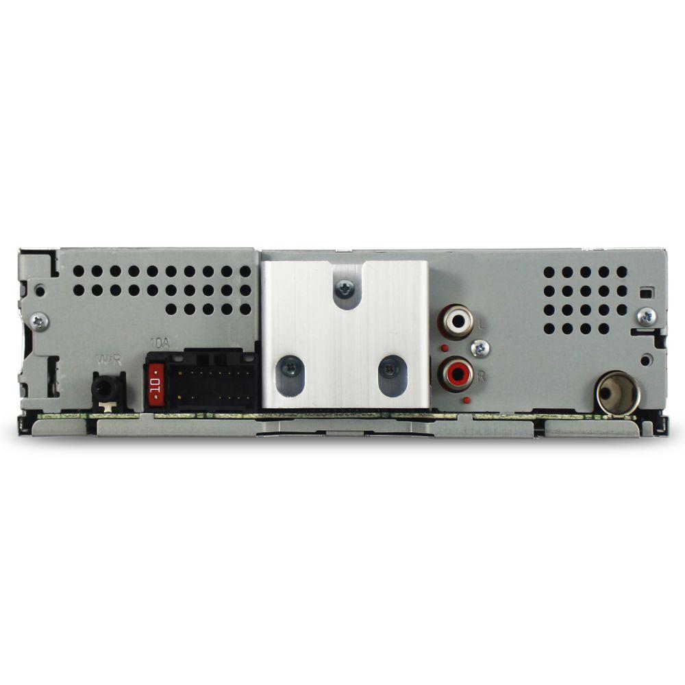 Mp3 Player Automotivo Pioneer MVH-S118UI Usb Sd Aux Rádio Fm Rca Equalizador Comando Som Volante