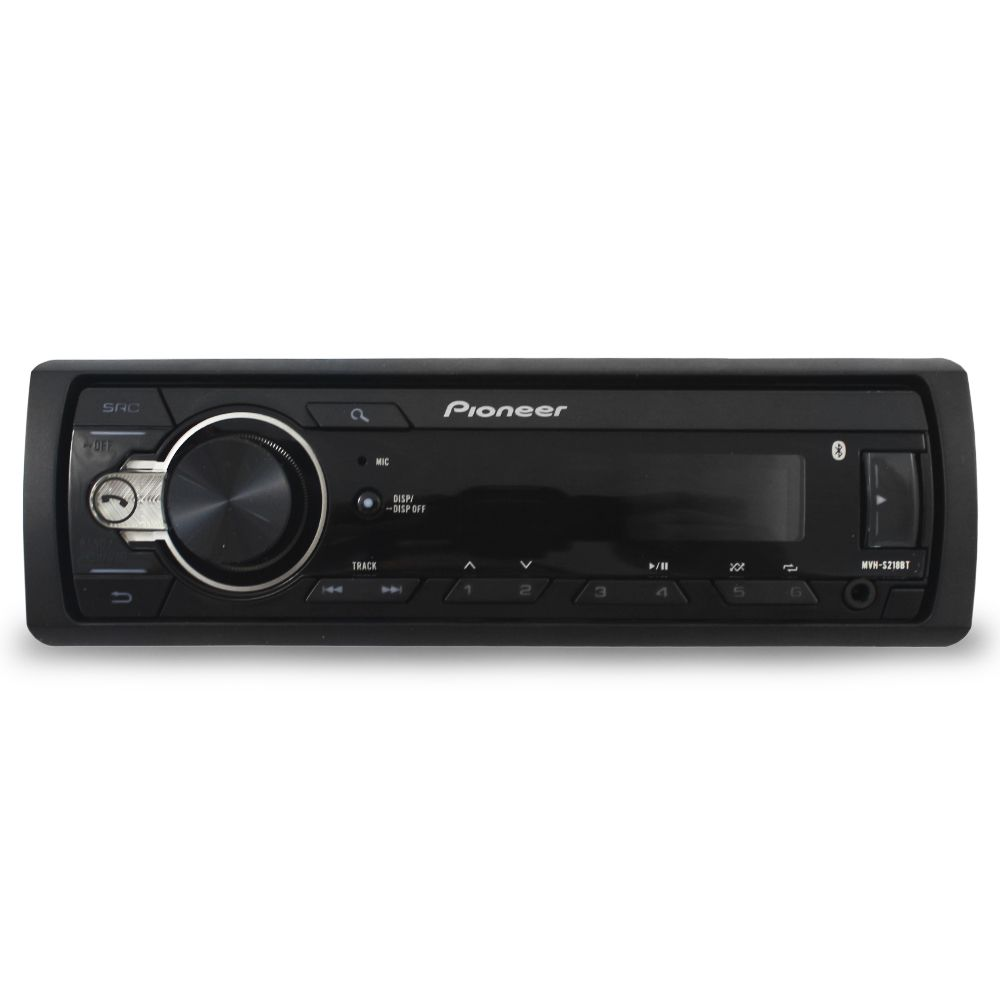 Mp3 Player Automotivo Pioneer MVH-S218BT Bluetooth Usb Sd Aux Rádio Fm Rca Equalizador