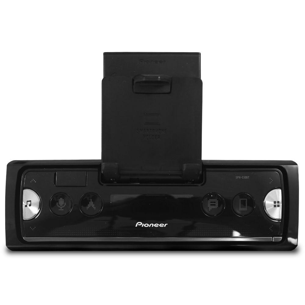 Mp3 Player Automotivo Pioneer SPH-C10BT Bluetooth  Usb Fm Comando Som Volante Frente Destacável Smart Sync