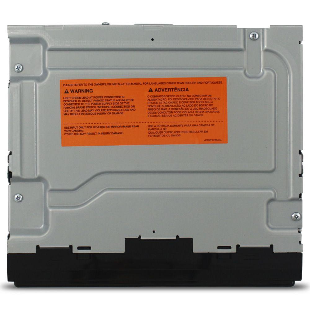 Mp5 Player Automotivo 2 Din 6.2 Pol Pioneer MVH-A218BT Universal Bluetooth Usb Sd Card Aux Radio Fm Comando Som Volante