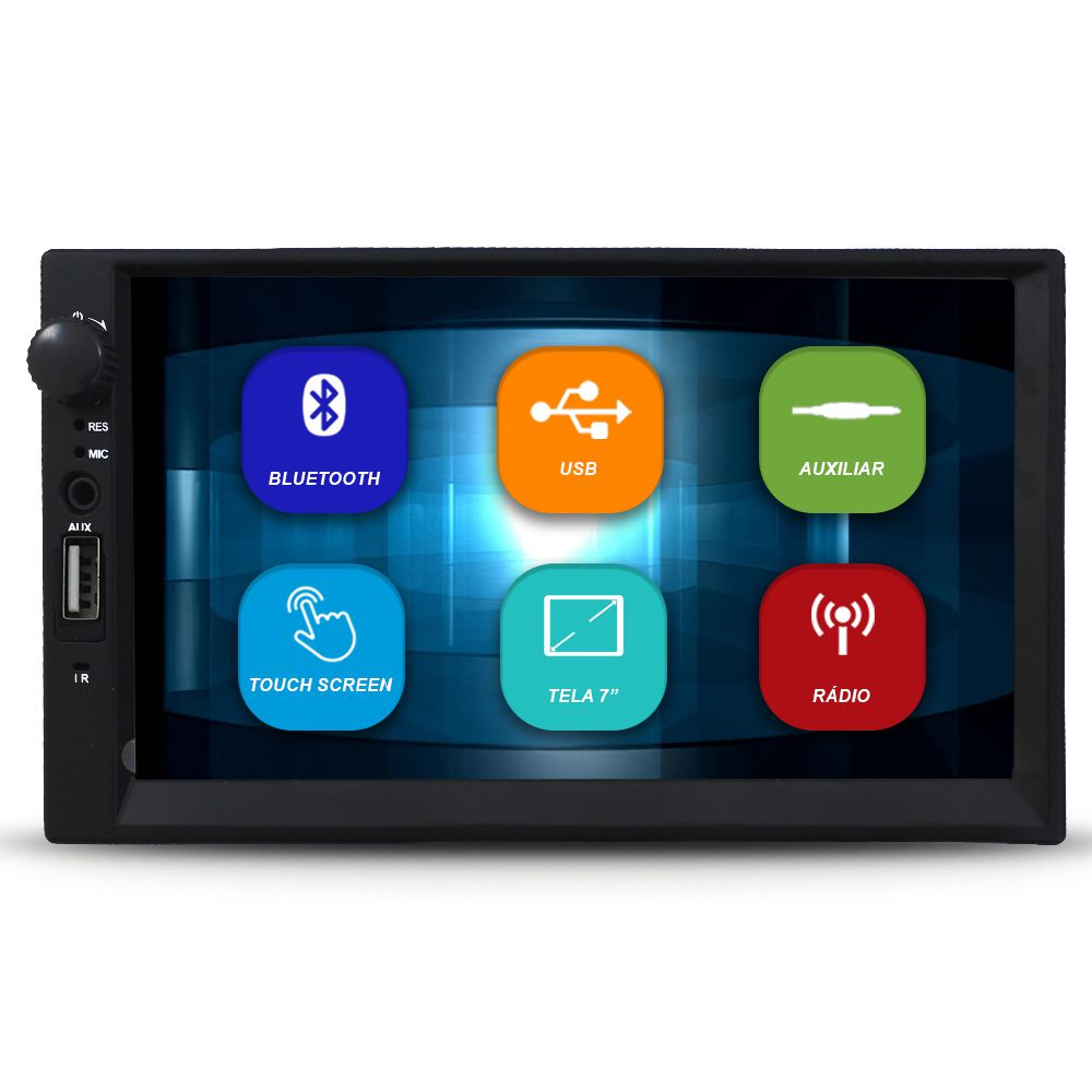 Mp5 Player Automotivo 2 Din 7 Polegadas First Option Bluetooth Usb Fm