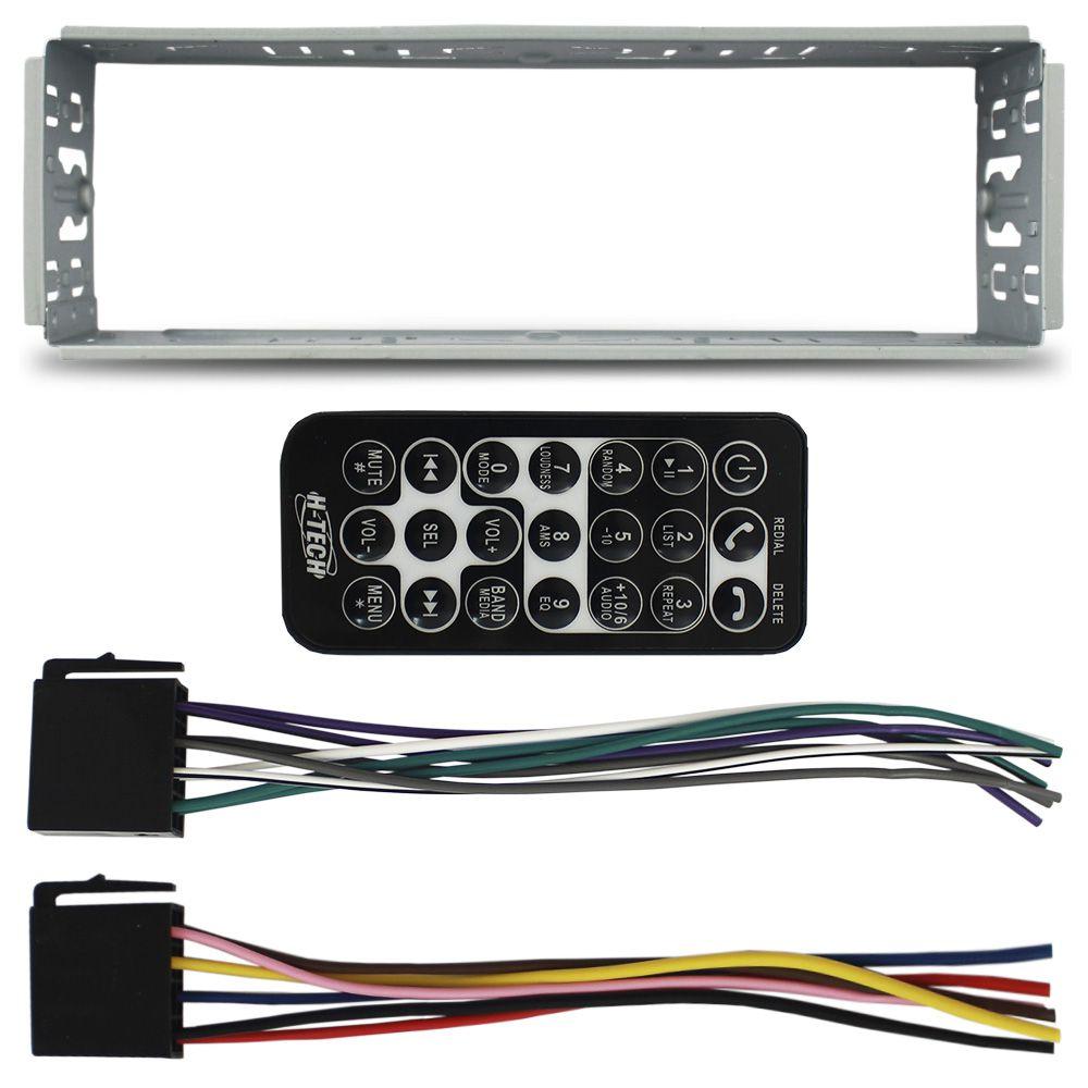 Mp5 Player Automotivo 4 Pol Bluetooth H-Tech Universal