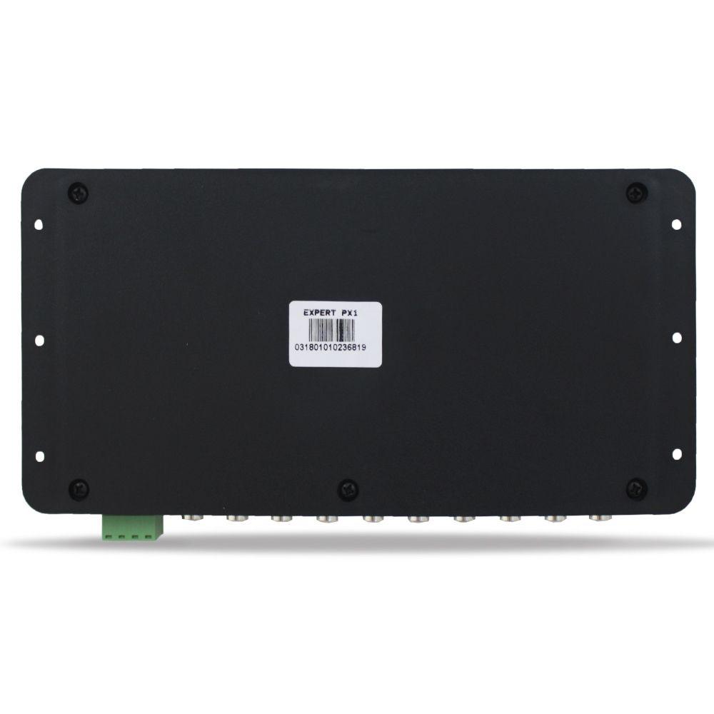 Processador Audio Automotivo Expert PX-1 Pro Limiter 4 Canais Digital Crossover Equalizador Gain Delay Phase