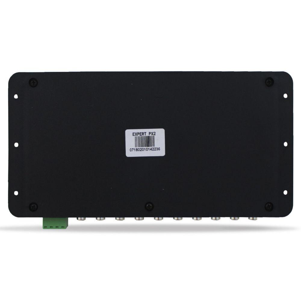 Processador Audio Automotivo Expert PX-2 Limiter 6 Canais Digital Crossover Equalizador Gain Delay