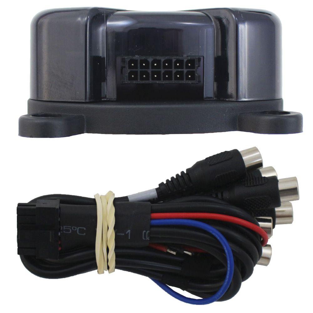 Processador Audio Automotivo Stetsom STX-2436 Bluetooth 4 Canais Digital Crossover Equalizador Gain Delay Phase Limiter