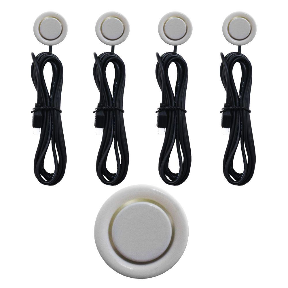 Sensor Estacionamento Ré 4 Pontos E-Tech Universal Traseiro Display Led Kit