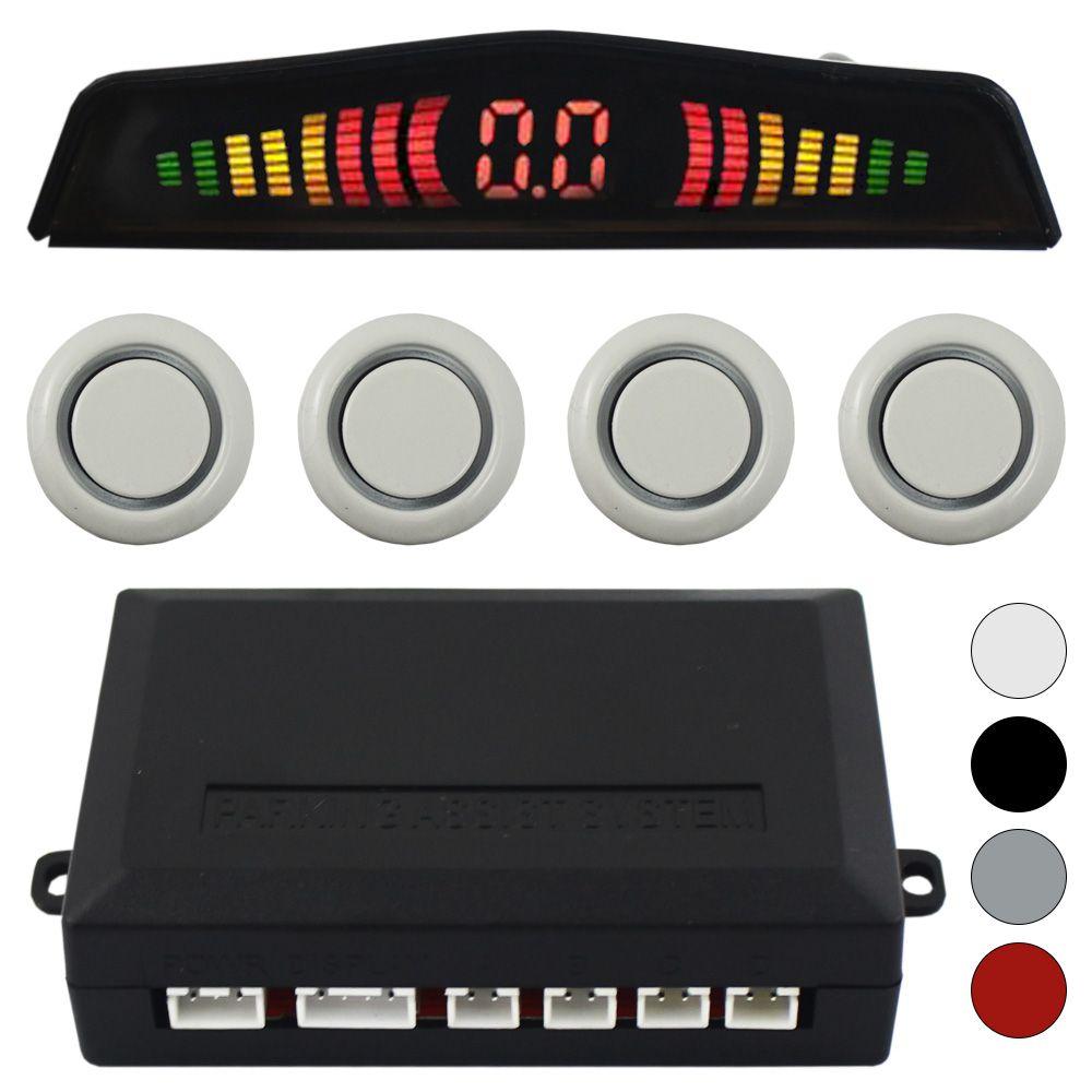 Sensor Estacionamento Ré 4 Pontos Gc Traseiro Display