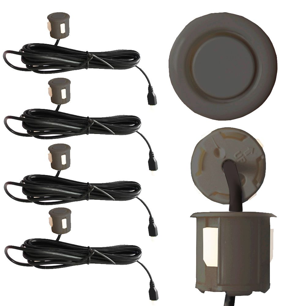 Sensor Estacionamento Ré 4 Pontos Ray X Universal Traseiro Display Led Kit