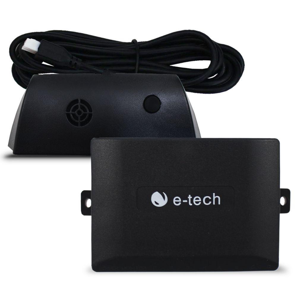 Sensor Estacionamento Ré 8 Pontos E-Tech Universal Dianteiro Traseiro Display Led Kit