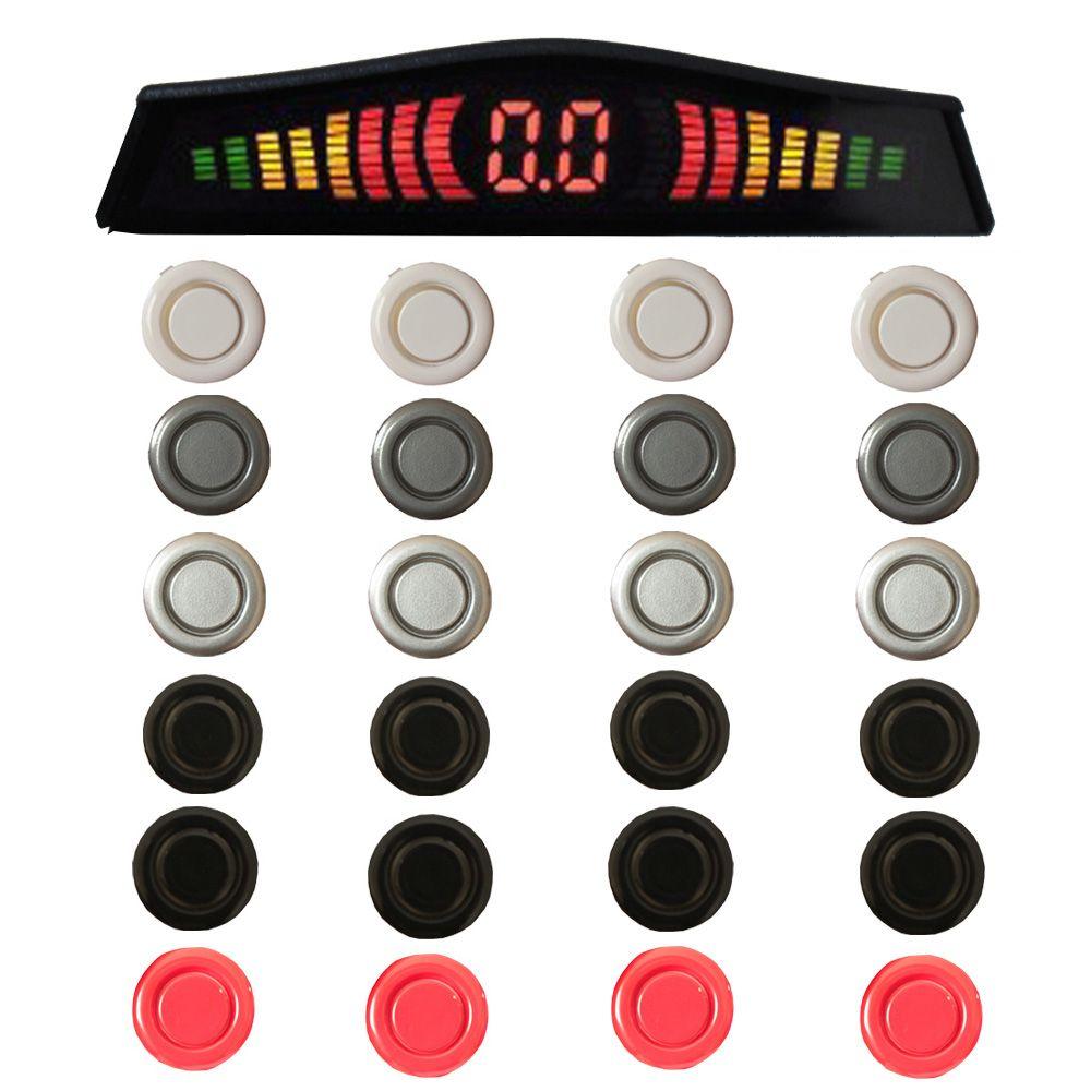 Sensor Estacionamento Ré 4 Pontos Cinoy Traseiro Display