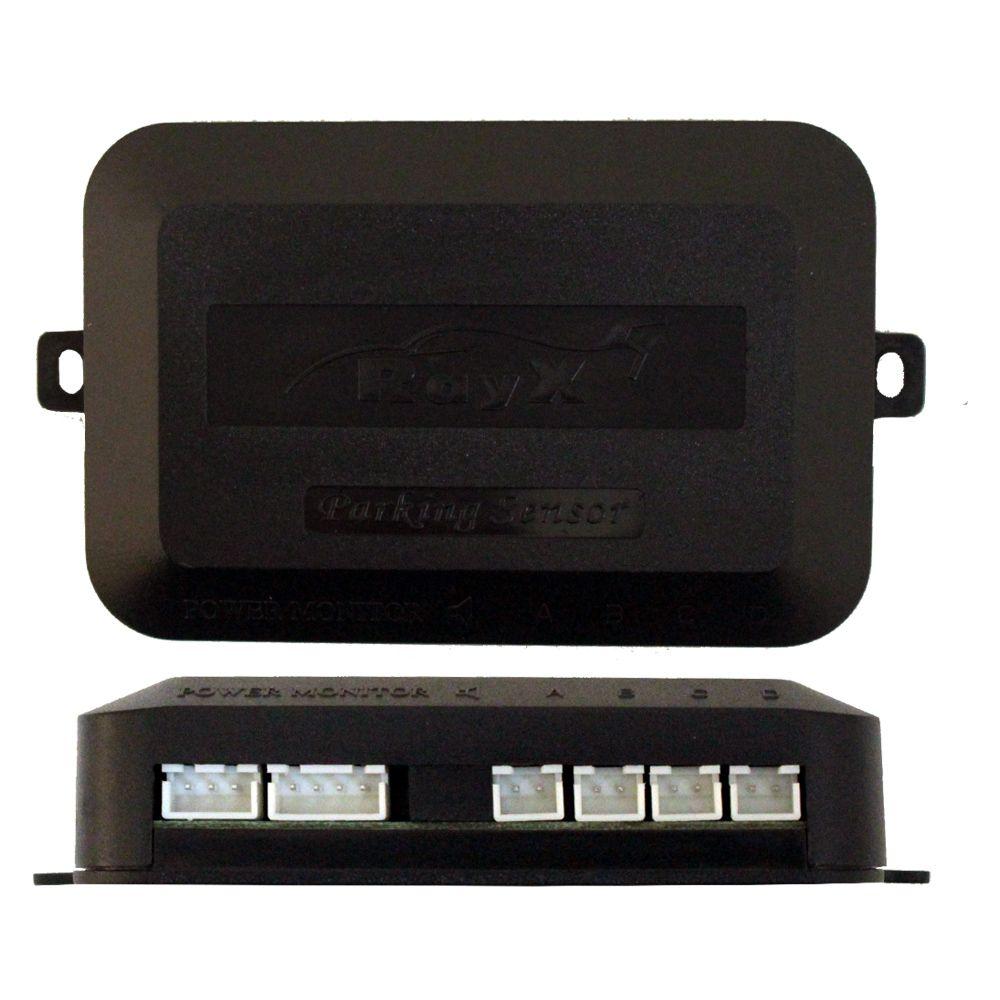 Sensor Estacionamento Ré Emborrachado Ray X Preto 4 Pontos