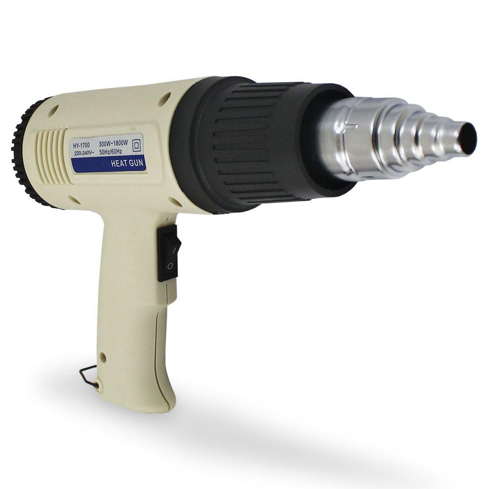 Soprador Termico 220v 1800w Golden Cabo HY-1700 Profissional Pistola Ar quente Ajuste Temperatura 50ºC a 650ºC GC