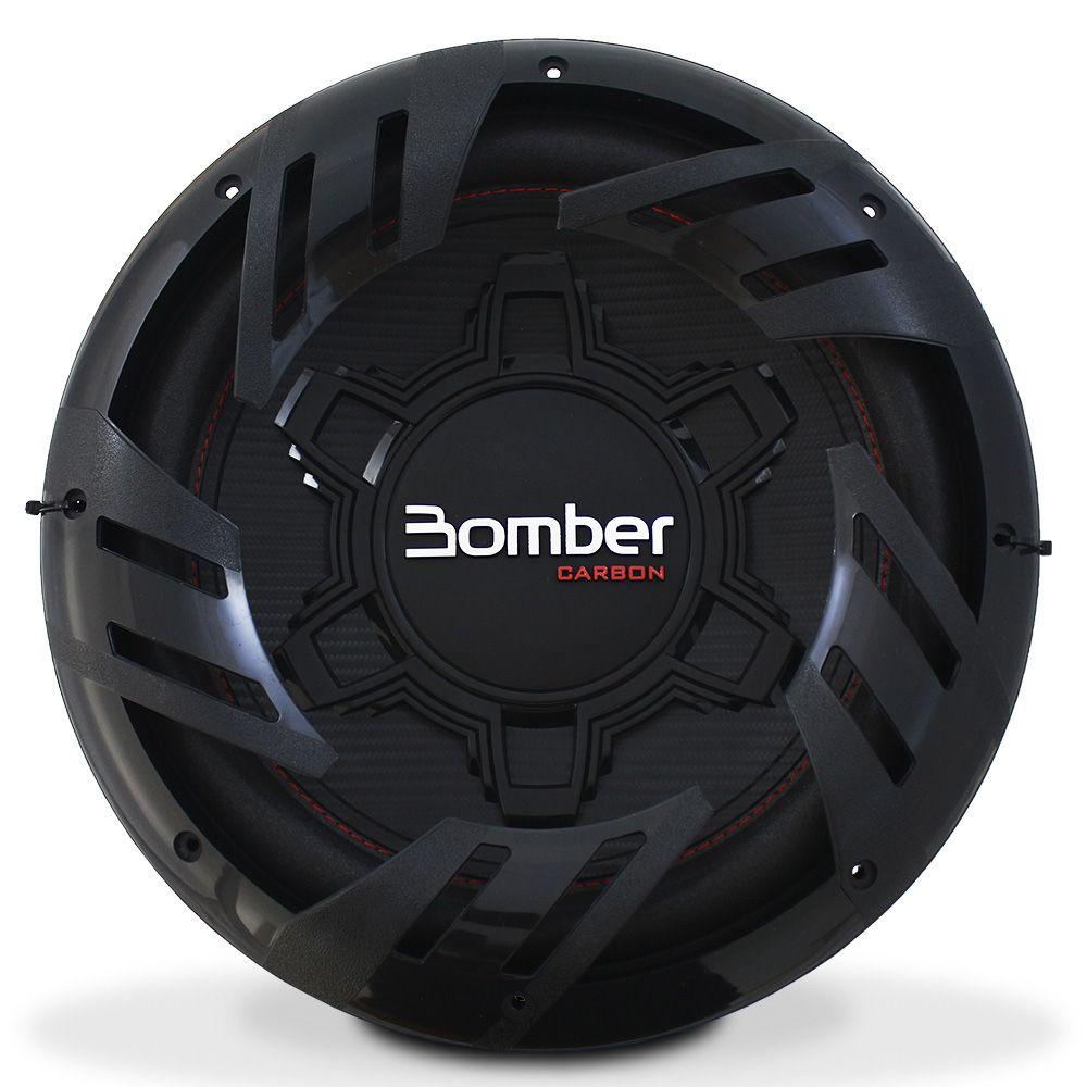 Subwoofer 12 Polegadas Bomber 250w Rms Carbon 4 Ohms Bobina Simples 500w Pico Peça