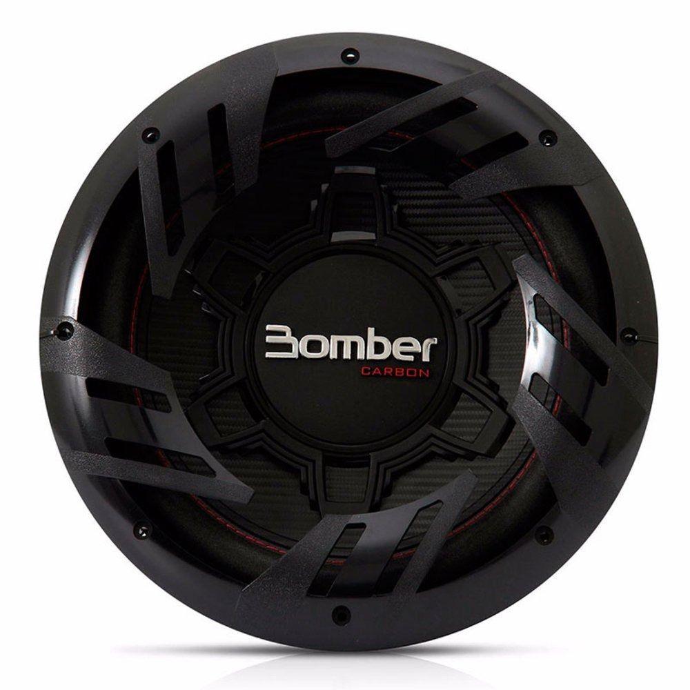 Subwoofer 12 Polegadas Bomber 500w Rms Carbon 4 Ohms 4+4 Ohms Bobina Simples Dupla 1000w Pico Peça