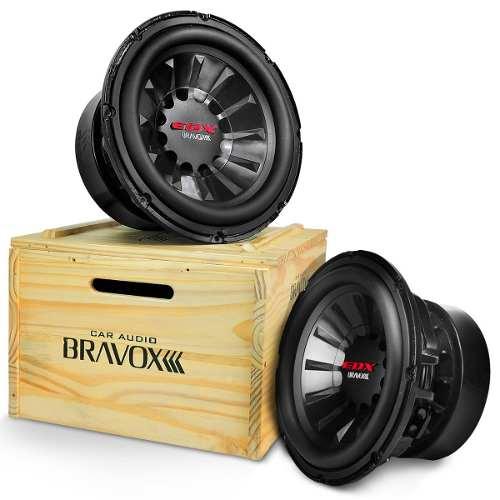 Subwoofer 12 Polegadas Bravox 1500w Rms EDX-12 1.5+1.5 Ohms 4+4 Ohms Bobina Dupla 3000w Pico Peça