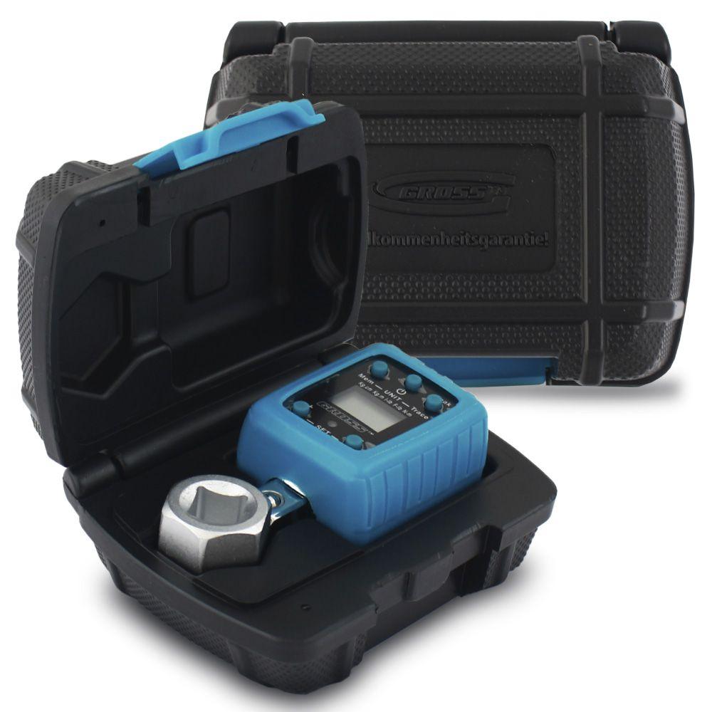 Torquímetro Digital Eletrônico Adaptador 1/2 Polegadas Escala 40 A 200 Nm Gross Aperto Controlado Capa Protetora Maleta