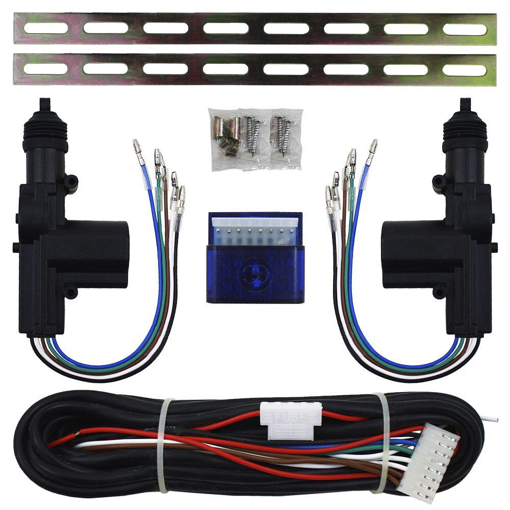 Trava Elétrica Universal 2 Portas Duplo Comando Kit Gc