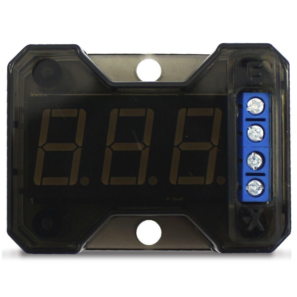 Voltímetro Expert Digital Automotivo VEX 1.0 Mede Tensão 5v a 16,5v Acionamento Remoto Compacto
