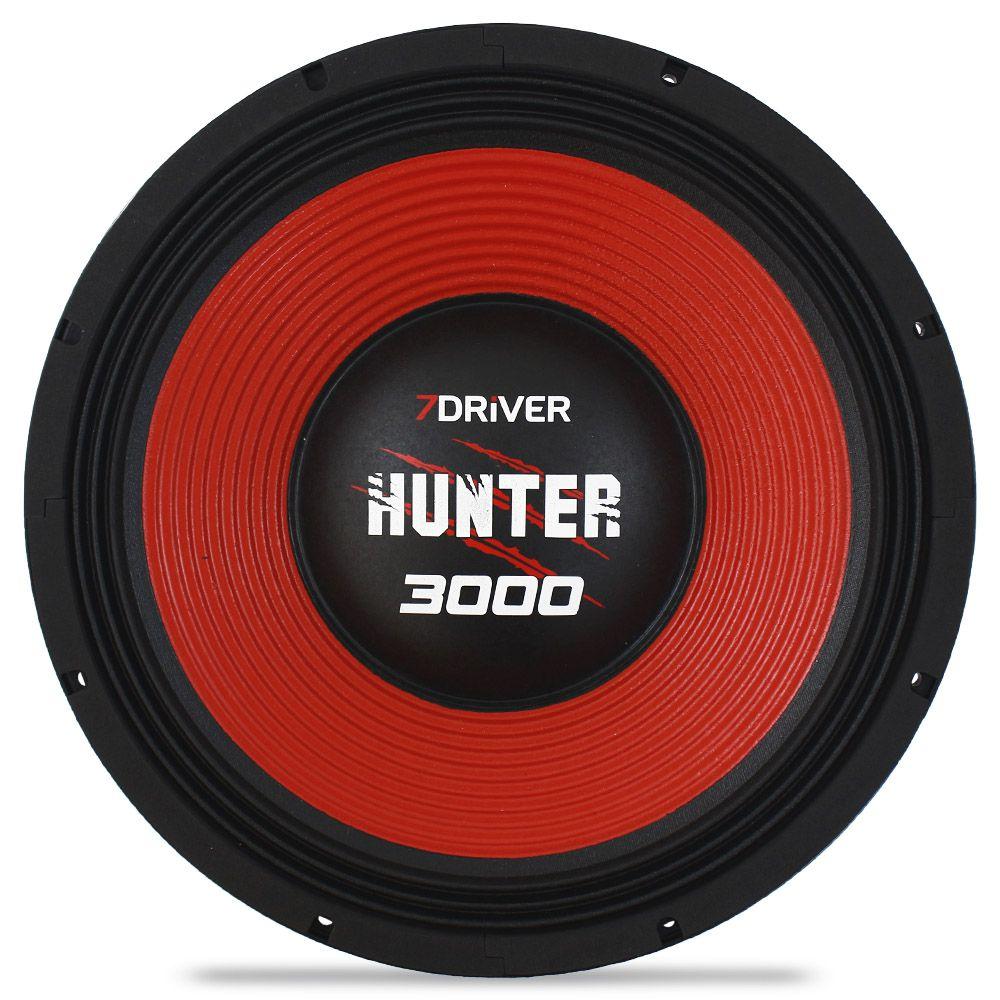 Woofer 15 Polegadas 7 Driver 1500 Rms Hunter 4 Ohms Bobina Simples Grave Sub Grave 3000w Pico Peça