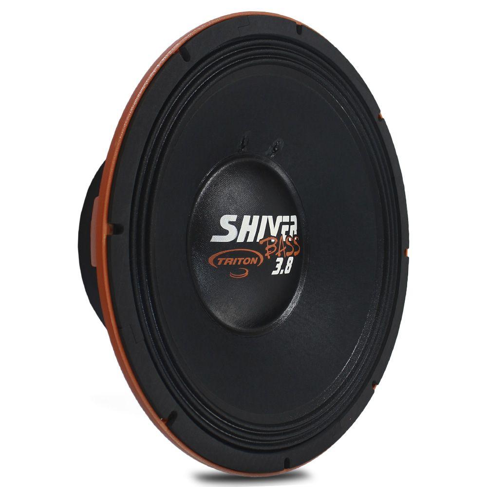 Woofer 15 Polegadas Triton 1900w Rms Shiver Bass 3.8 Laranja 4 Ohms Bobina Simples Sub Grave 3800w Pico Peça