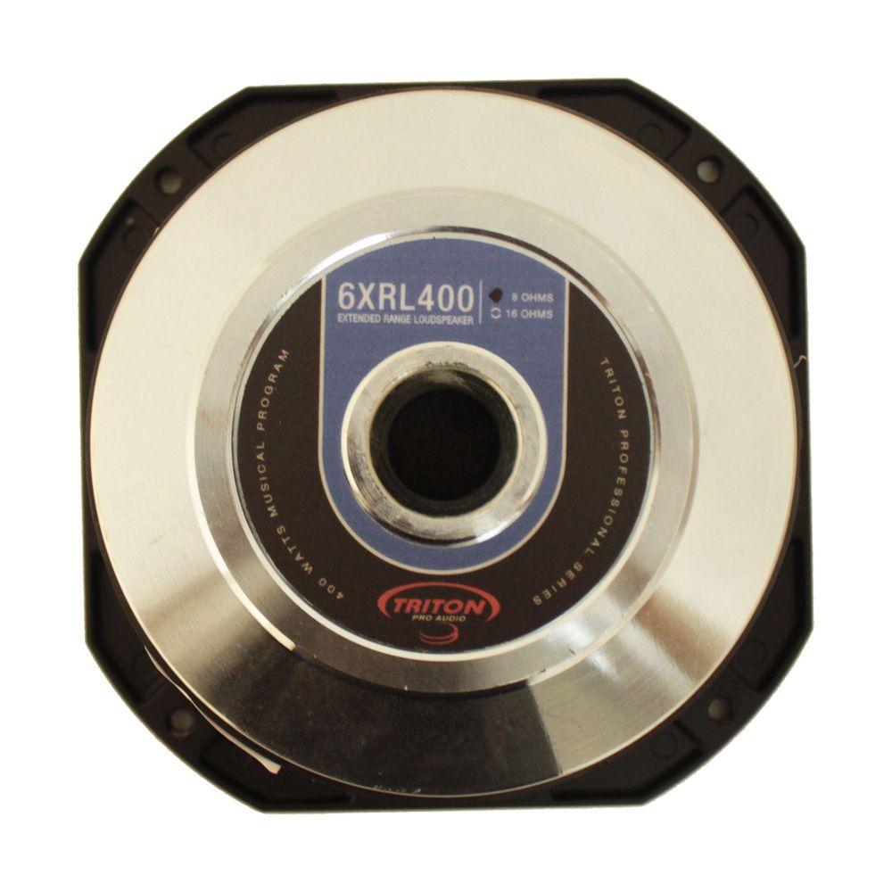 Woofer 6 Polegadas Triton 200w Rms 6-XRL400 8 Ohms Bobina Simples Médio Grave 400w Pico Peça