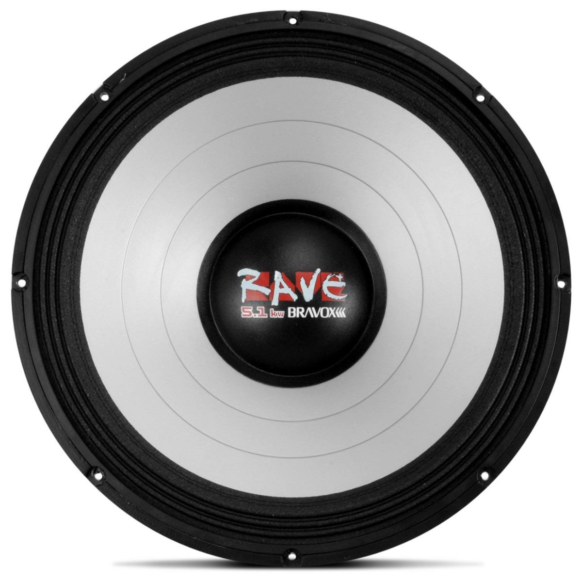 Woofer Bravox 18 2500 Rms Rave 4 Ohms