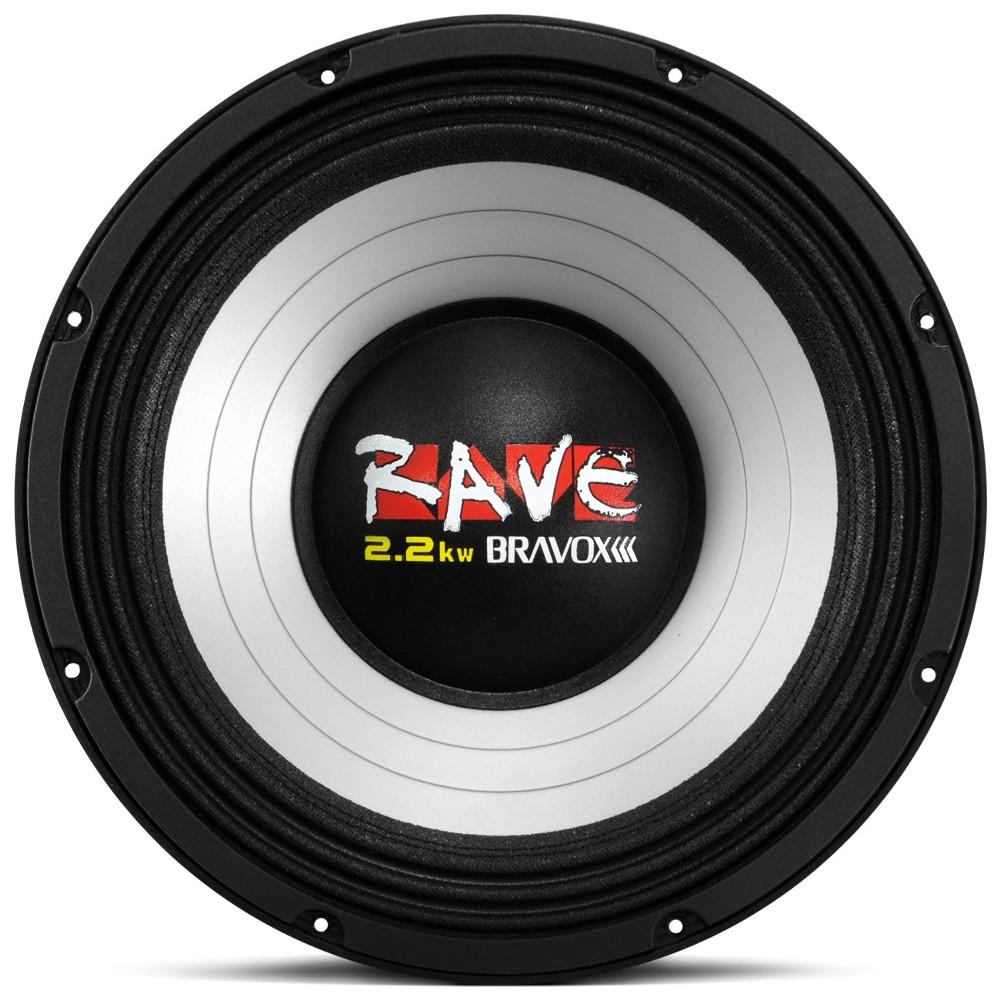 Woofer Bravox 12 1100 Rms Rave Grave 4 Ohms