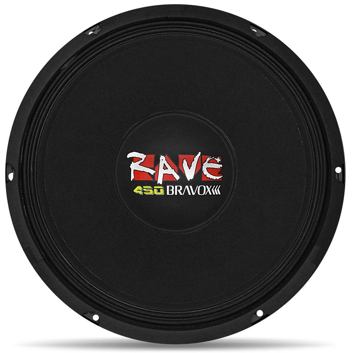 Woofer Bravox 12 450 Rms Rave 4 Ohms