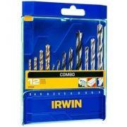 Conjunto De Brocas Ar Madeira 3pts Irwin 12 Pçs - 891524