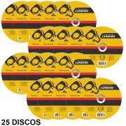25 DISCOS DE CORTE INOX 180 X 22 MM CARNEIRO 40401003