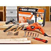 Furadeira 1/2  220v C/ Kit Box E Acessórios - Hd560k-b2 Black e Decker