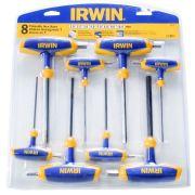 Conjunto Chave Hexagonal  T  Irwin Da 2,5 A 10mm - Iw10771