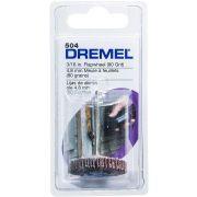 """DISCO DE LAMELAS 3/16"""" GRÃO 80 DREMEL 504 - 2615000504"""