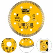 DISCO DIAMANTADO TURBO 4 POLEGADAS PORCELANATO 105 MM - DW57400BHP DEWALT
