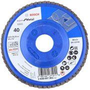"""Disco Flap Blue Metal 115mm 4½"""" G- 40 - 2608607361000 - BOSCH"""