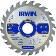 Disco Serra Marmore P/ Madeira 110mm - 12d - Irwin - Iw14103
