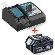 Kit Carregador de carga rápida DC18RC + Bateria 18V ions de Lítio 4Ah BL1840