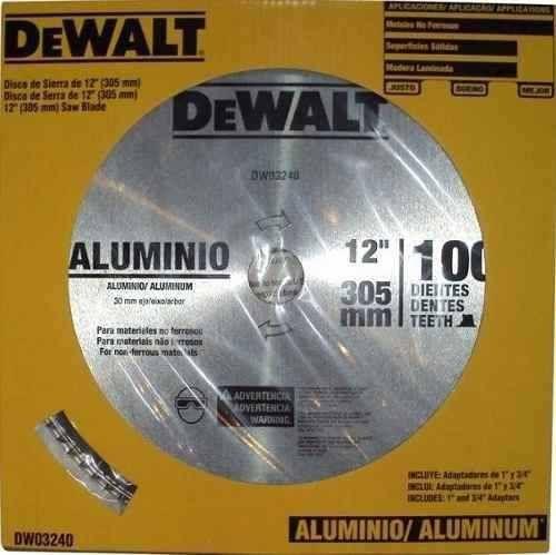Disco De Serra Widea 12  100 Dentes Aluminio Dewalt DW03240
