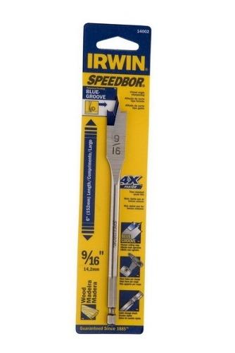 Broca Chata Para Madeira Irwin 6 X 9/16 - 14.2mm Iw14002